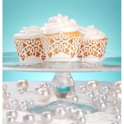Something Blue - David Tutera - Bridal Collection - Pearl Cupcake Wrap, R93.00 (http://www.somethingblue.co.za/david-tutera-bridal-collection-pearl-cupcake-wrap/)