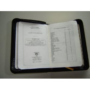 Ultra Small Malayalam Bible / Leather Bound with Golden Edges and Thumb Index and Zipper / Malayalam a language of India   $79.99