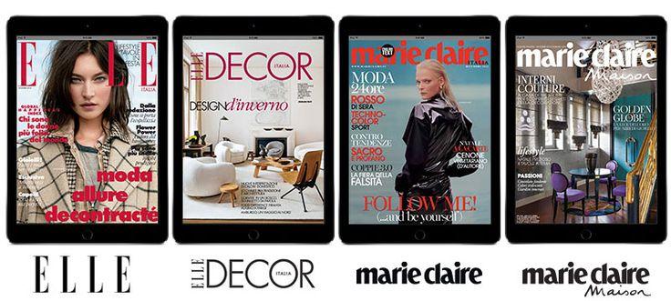 Fashion & Design Digitale La moda incontra il design: un anno di abbonamenti digitali App a 4 autorevoli mensili internazionali, con tanti consigli e novità su fashion, bellezza living e arredamento. E il prezzo lo scegli tu!