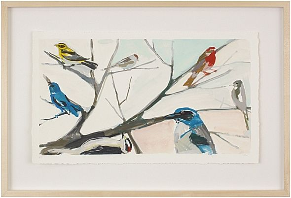 "Karen Smidth Birds I    Limited Edition of 100, archival hand-deckled print, signed and numbered by the artist.     25"" x 19"""