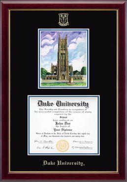 duke university diploma frame