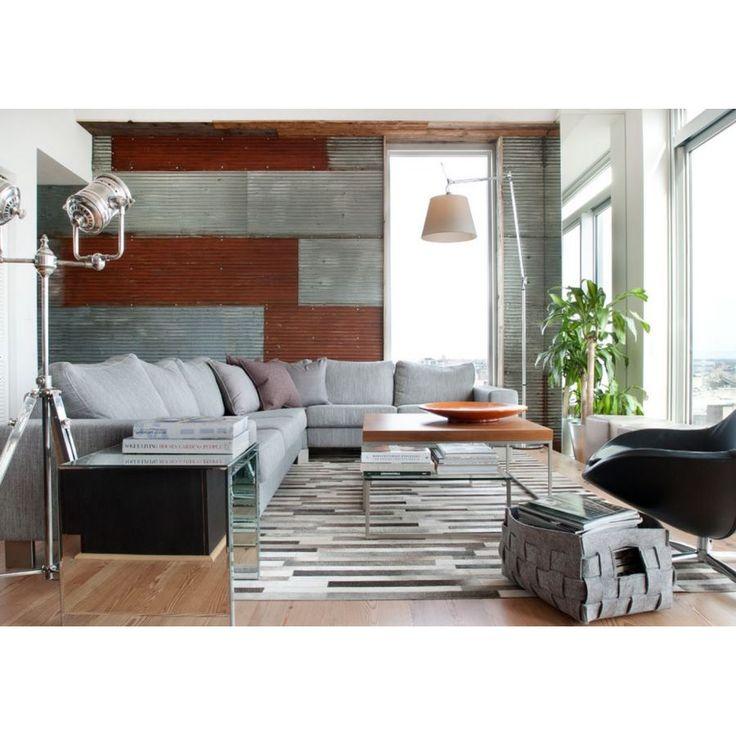 Minimalist interior with a corrugated wall, yay or nay? #rumahkulivingroom