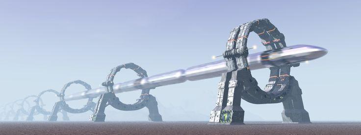 Image result for futuristic sky train deviant art