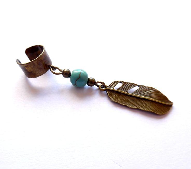 Ear cuff med turkos magnesit från http://ladyofthelake.se  #earcuff #earcuffshop #smycken #svenskdesign #shopping