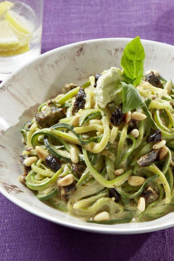 Rezept Zucchini Nudeln mit Frischkäse-Sauce