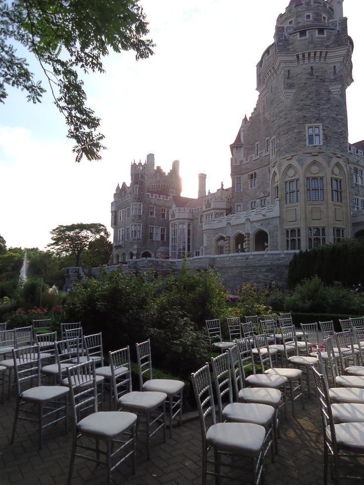 Garden Wedding..Casa Loma, Toronto, Canada