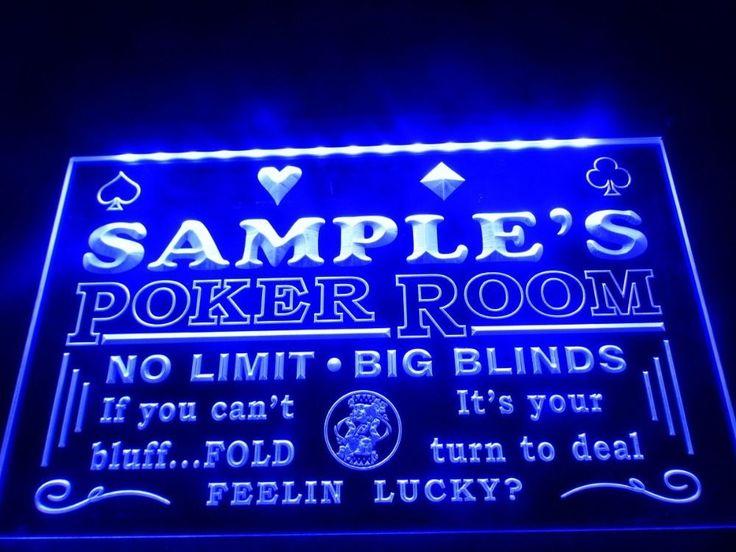 DZ005- Name Personalized Custom Poker Casino Room Beer Bar