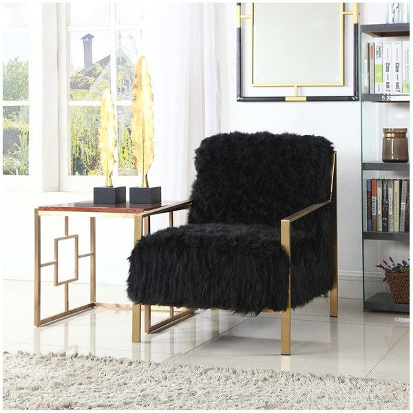Superb Bayla Black Accent Chair 570 Liked On Polyvore Machost Co Dining Chair Design Ideas Machostcouk