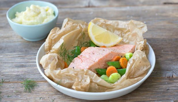 Laksepakke med grønnsaker - Godfisk