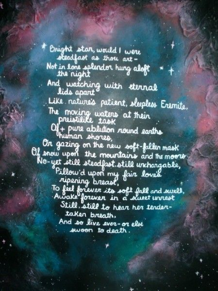 Top 10 Romantic Love Poems - 'Bright Star' by John Keats