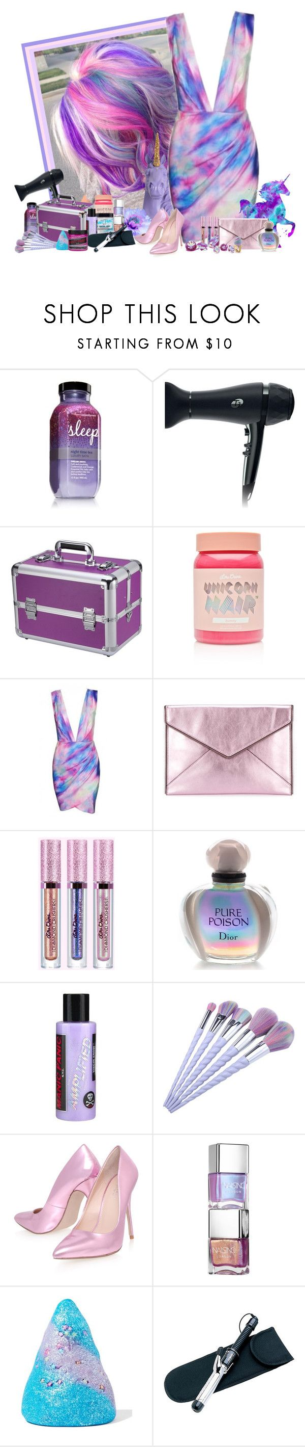 """""""Unicorn Hair!!!"""" by frane-x ❤ liked on Polyvore featuring beauty, New Look, T3, Lime Crime, Manic Panic NYC, White Faux Taxidermy, Rebecca Minkoff, Christian Dior, Sretsis and Carvela Kurt Geiger"""