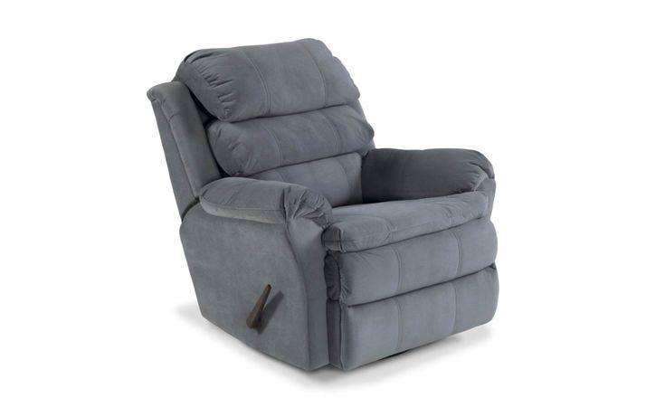 Bobopedic blue swivel rocker recliner in 2020 bobs