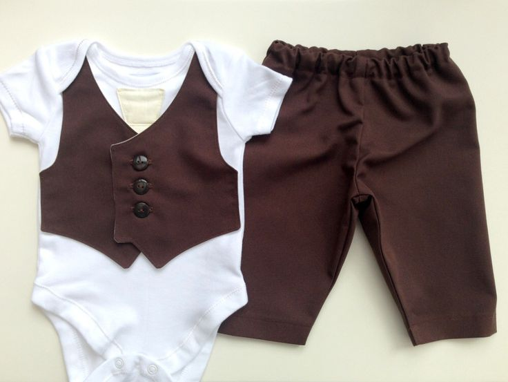 Baby suit, little boys wedding outfit, baby boy clothes, christening outfit, baby tie, boys dark brown vest and cream  tie, page boy by ThisisLullaby on Etsy https://www.etsy.com/listing/191984054/baby-suit-little-boys-wedding-outfit