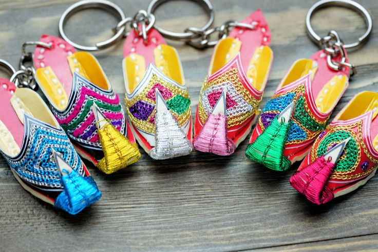 Khussa Shoe keychain,unique keychain,cute keychains, miniature shoe keyschain, Shoe keychain, leather keychain, keychain,Free shipping by ZsTribalTreasures on Etsy