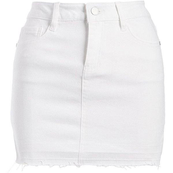 thoughts on attractive price store Dollhouse White Denim Skirt ($25) ❤ liked on Polyvore ...