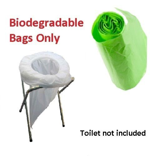 TRAVEL Camping Biodegradable Bags For Folding Pop Up Expedition Emergency toilet