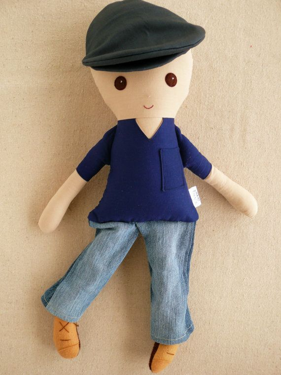 Reserved for Nikole Fabric Doll Rag Doll Man Doll by rovingovine