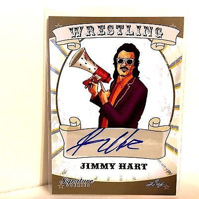 JIMMY HART Auto 2016 Leaf Signature Wrestling Autograph FREE SHIP Mouth Of South