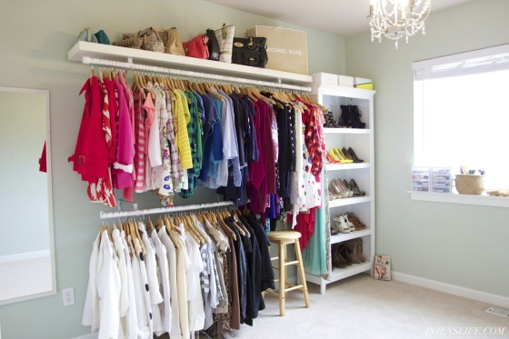 Hey loves! I finally finished my closet! You can check out the before here, but this one is my permanent fix and I couldnt be happier! Its as close to a dream closet as Im going to get right now, so I thought Id share some pictures and my process!...