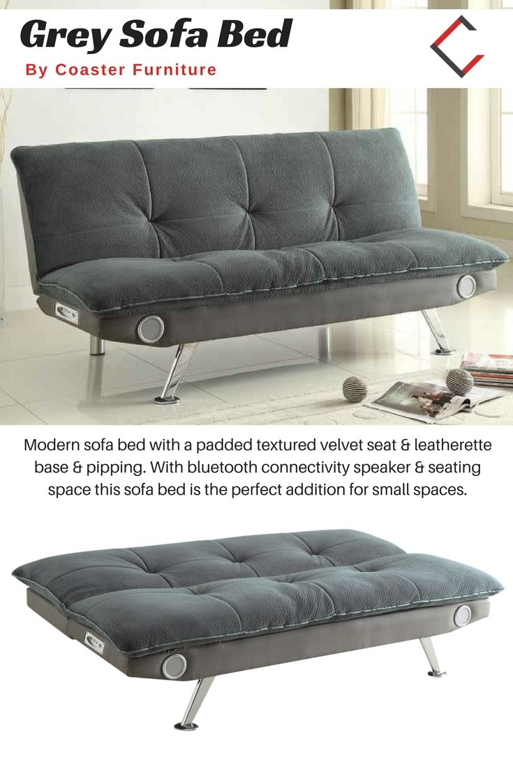 Coaster Furniture Grey Faux Leather Fabric Sofa Bed In 2018 The