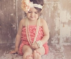 pretty in pink: Little Girls, Romantic Vintage, So Cute, Pearls, Daughters, Baby Girls, Vintage Inspiration, Flower Girls, Photo Shooting