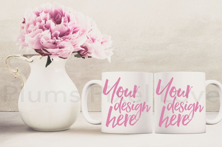 His and Hers Mug Mockup, Mockup Styled Coffee Mugs, Product Styled Stock, Product Photography, Mug design, Digital, 2 white mugs, blank mugs by plumspixellove on Etsy