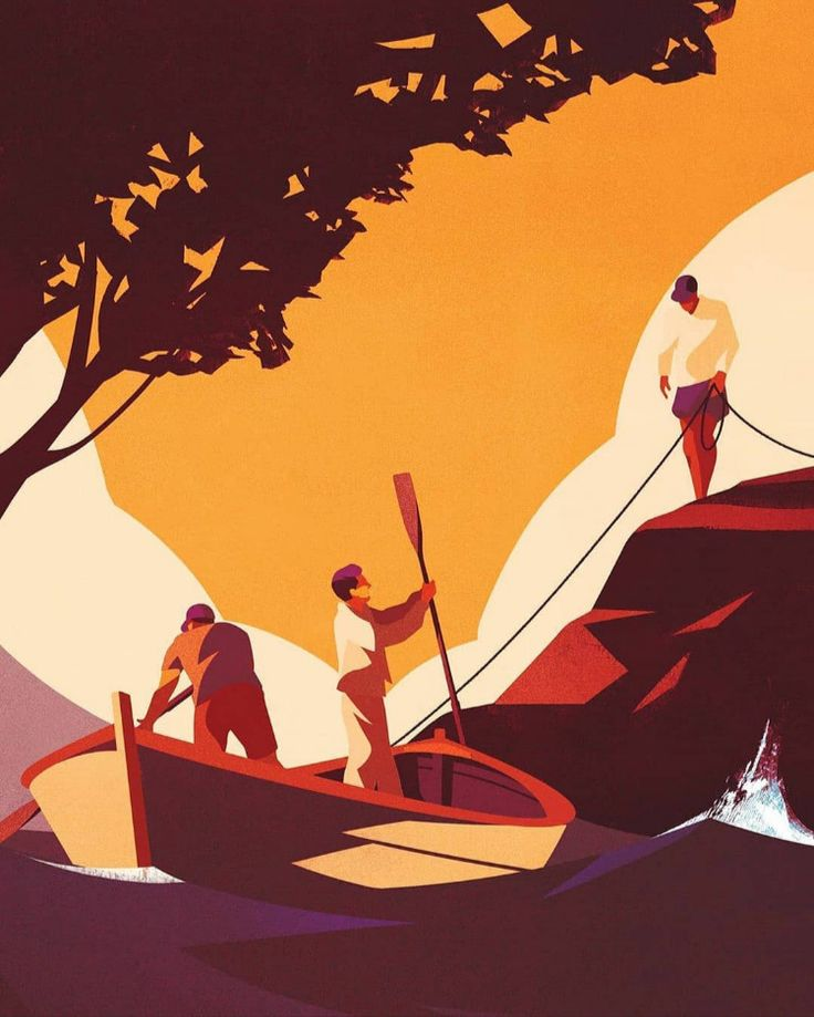 - 6d508aea42df16968810be190b1fc5c4 - Ready to go on an adventure! Illustration by Charlie Davis   #pixelcart #adventure #boat #boats #illustration #adobe #ar…