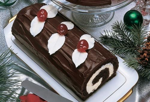 Chocolate and White Yule Log | Save-On-Foods