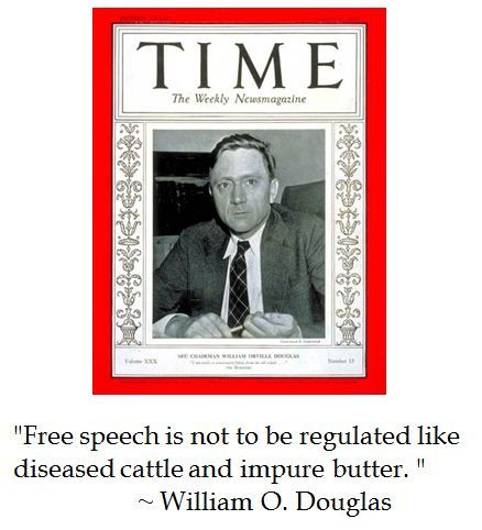 William O Douglas on free speech