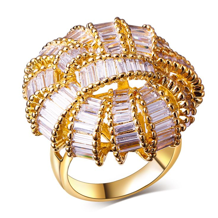 Find More Rings Information about Luxury rings gold filled big women yellow gold plate rings women's designer rings Crystal unique jewelry with cubic zirconia,High Quality jewelry showcase,China jewelry ring settings Suppliers, Cheap ring shape from Myself Jewellery on Aliexpress.com