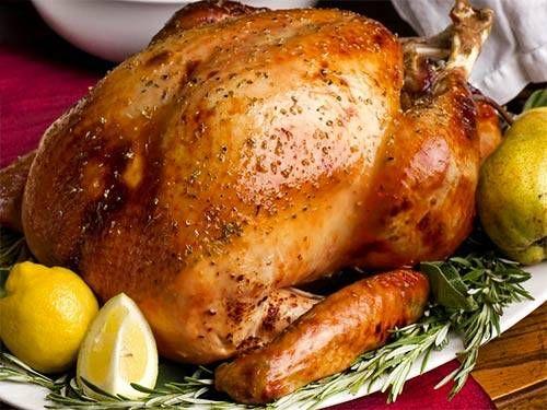 Курица по-новогоднему, запеченная с мандаринами и розмарином / Простые рецепты