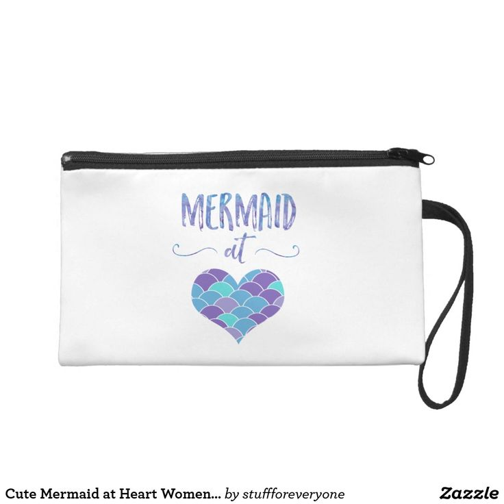 Cute Mermaid at Heart Women's Clutch/Makeup Bag