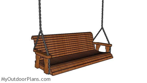 Simple 5 Ft Porch Swing Plans Porch Swing Plans Porch Swing Wooden Playhouse
