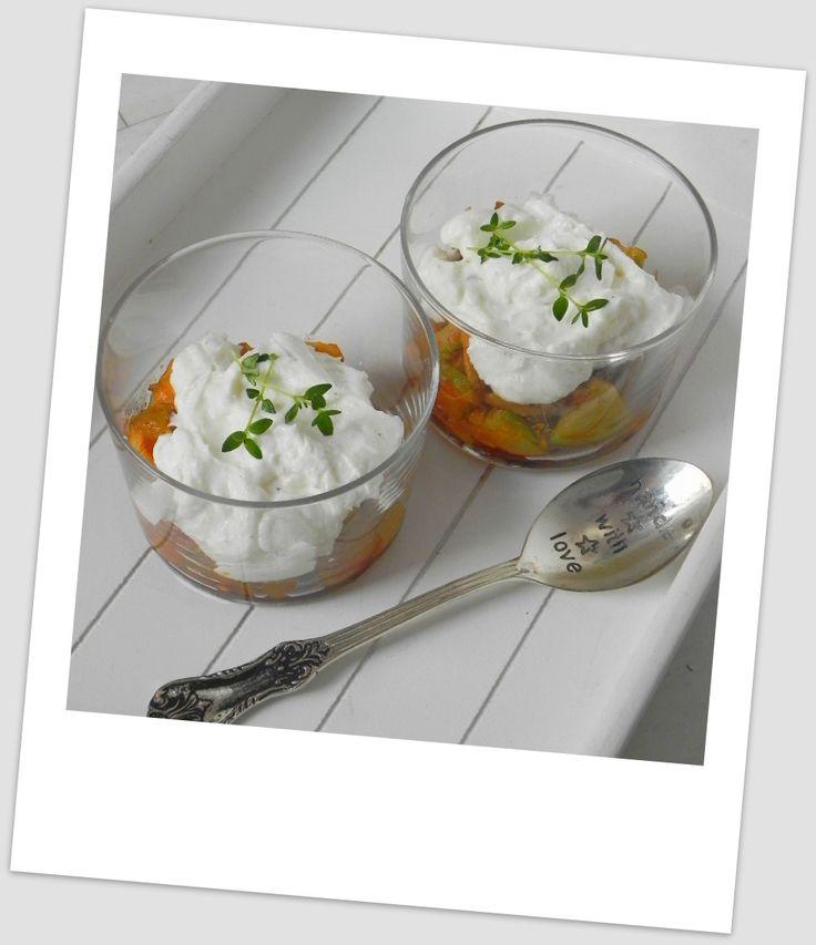 Vasitos mediterráneos (con berenjenas, calabacín y crema de queso de cabra) | CocotteMinute