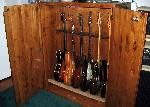 Wood Guitar Storage Cabinet. maybe someone handy can help me make this :)