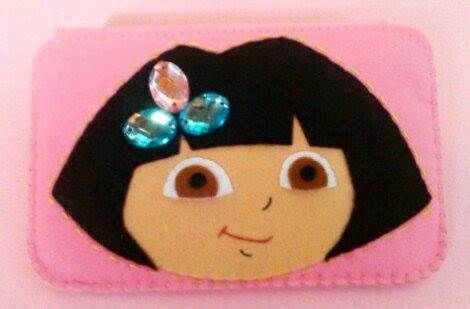 Dora the Explorer, HANDMADE  felt pouch and case for ipad, ipad mini and any other gadgets We also accept customize and personalize order :)