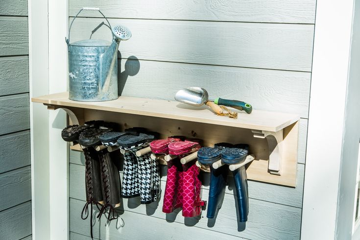 DIY Boot Drying Rack made by Ken Wingard is a great way to help dry your boots during rainy weather! Don't miss Home & Family weekdays at 10a/9c on Hallmark Channel