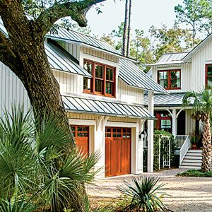 Coastal Call-Outs | Find a Charming Wood Garage Door - Southern Living