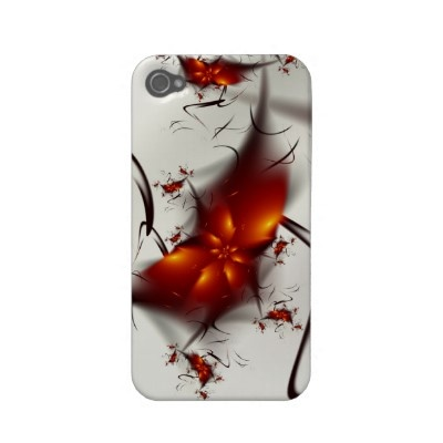 Fire Flowers & Ashes Abstract Fractal Iphone 4 Case-mate Cases
