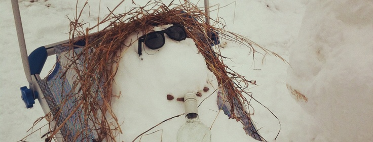 Camber's coolest snowman - just chilin'