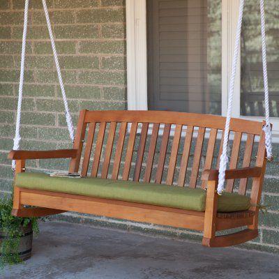 Blazing Needles 45 x 18 in. Outdoor Bench Cushion Kingsley Stripe Ruby - 93450-LV-45-REO-17