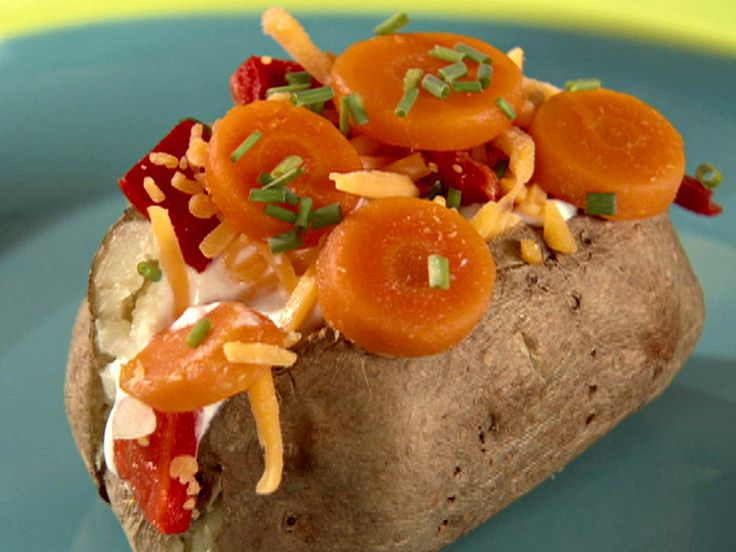 Potato Bombs - skip the bacon bits and just use vegetables and cheese.