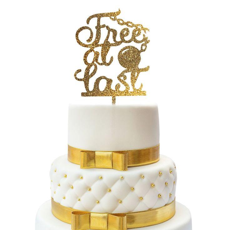 Just Divorced Cake Topper