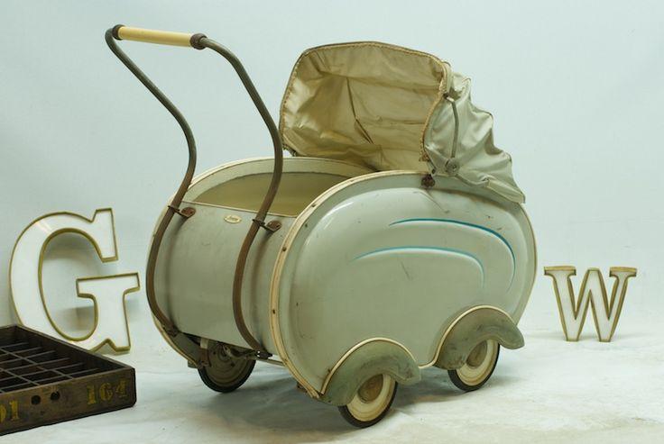 GIORDANI BAMBINO, Italy c.1930s Streamline Baby Stroller/Carriage