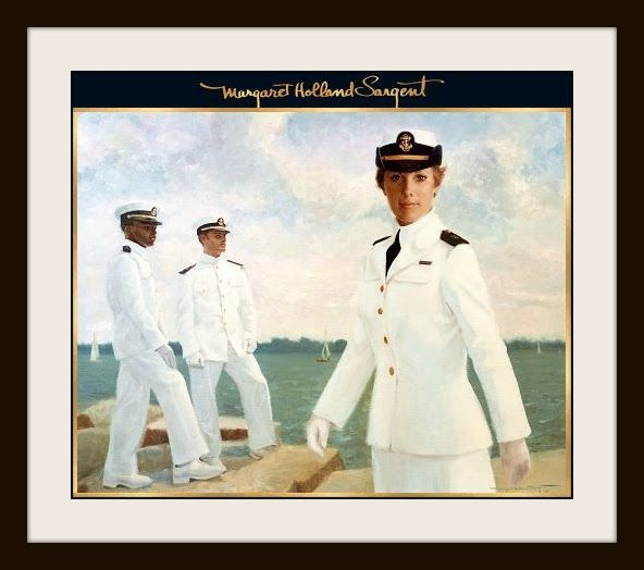 First Woman Plebe, U.S. Naval Academy, Annapolis, Maryland - Sandra Irwin Oil on Canvas by Margaret Holland Sargent