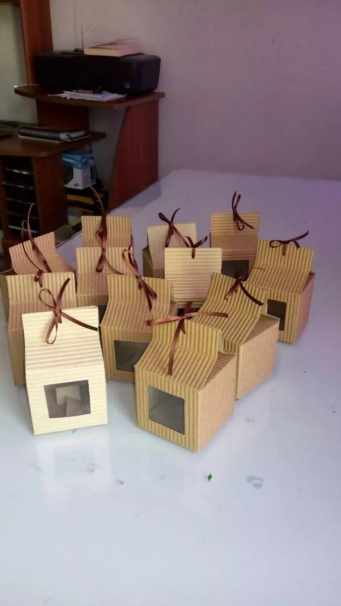 Mejores 36 im genes de dulceros papel corrugado en - Cajas de carton decoradas para regalos ...