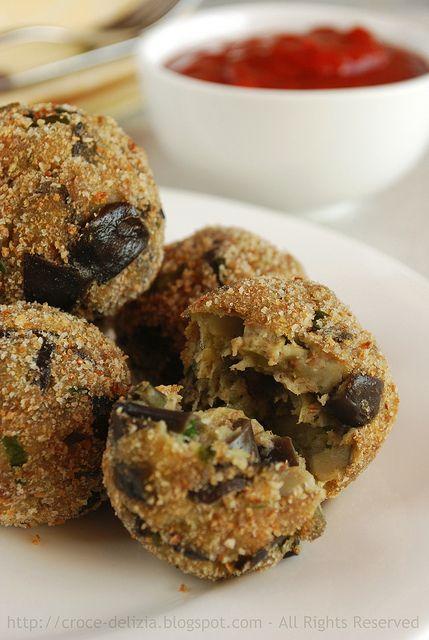 """Polpette di melanzane. (Eggplant """"Meatballs"""") In Italian, but scroll down for English. :)"""