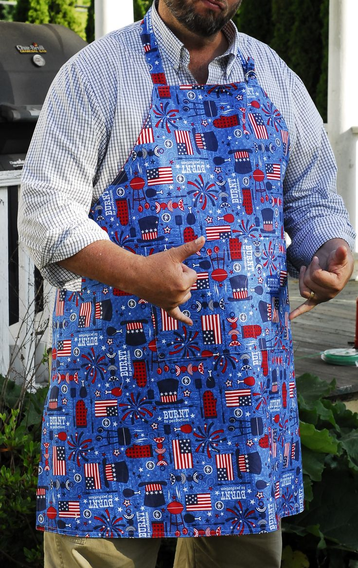 Reversible Apron - 2 aprons in one!  Very easy to make, and when using contrasting fabric, you get 2 aprons in the time it takes to sew one!