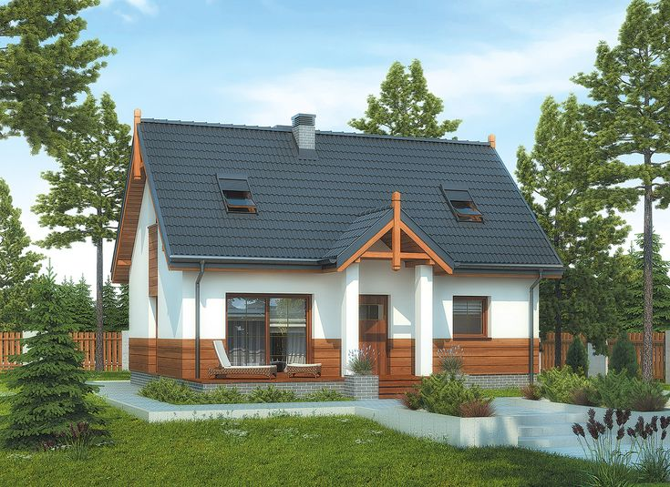 """""""Nasz domek"""" Murator M207 to nieduży dom za niewielkie pieniądze o ciekawym, niebanalnym wyglądzie."""