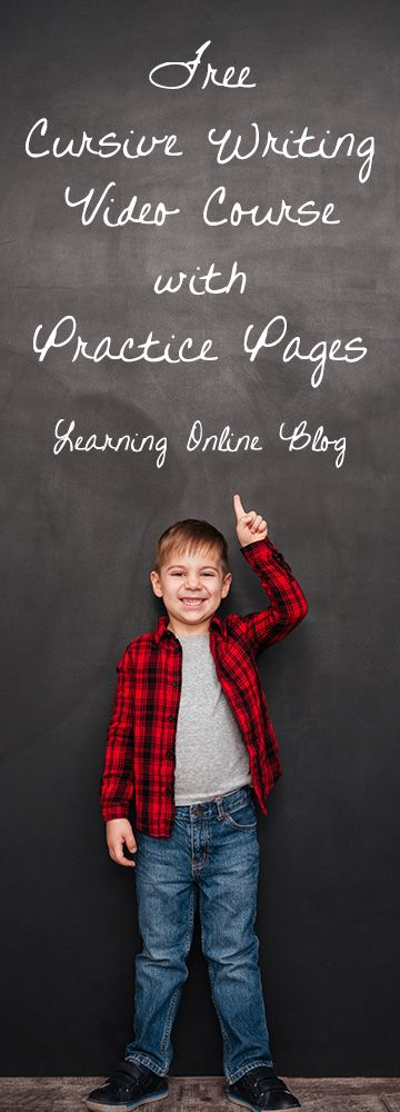 Use this free cursive writing video course with practice pages to teach your children handwriting.